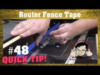 Why you should be using TAPE on your router table fence