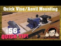 Woodworkers need a removable machinist vise-anvil mounting system