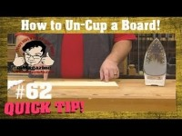 How to iron a warped-cupped board flat again