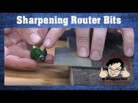 How to sharpen your own router bits with a diamond hone