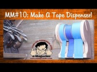Homemade workshop tape dispenser scroll saw project