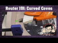 COOL ROUTER SKILL - How to cut CURVED coves for mouldings and trim