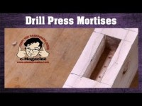 How to make a square mortise with a drill press and a forstner bit