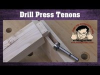 Forget mortises, can you cut a TENON with a drill press