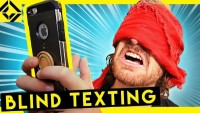 Can You use a Phone without Your Eyes? (Blind Texting Experiment)