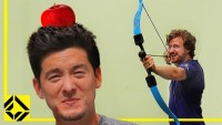 Can You shoot an Apple off your Friend's Head? (William Tell Archery Challenge)