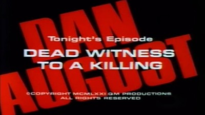 Dead Witness to a Killing