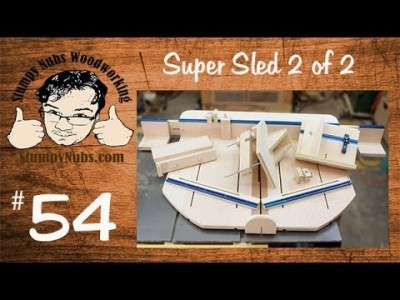 Homemade table saw crosscut sled with box.finger joint, spline and tenon jigs PART 2 of 2