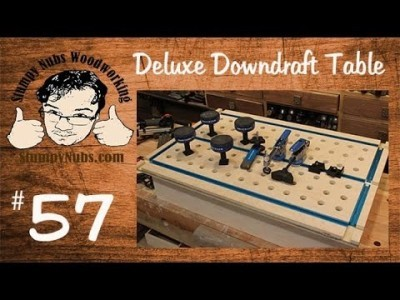 Make a DELUXE downdraft sanding table with t-tracks for work holding and clamping