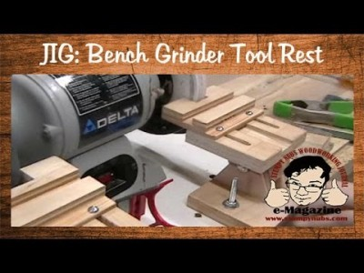 Homemade Grinder Tool Rest for Veritas Straight Grinding/Sharpening Jig