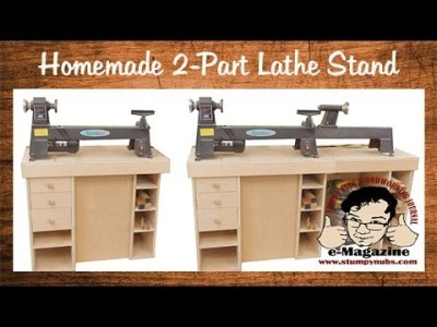 Build a homemade stand for a mini/midi/full size lathe (using Kreg Foreman Pocket Hole Machine)