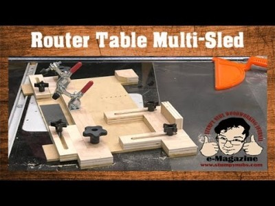 Build A Router Table Multi-Sled (Coping, Small Parts Holder, Tenons, Circles, Etc.)
