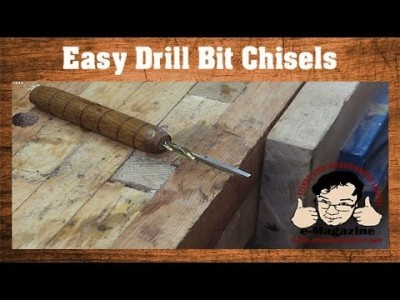 Make your own wood chisels out of old drill bits- Create custom sizes