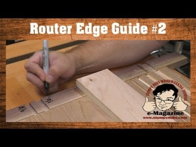 SIMPLE Router Edge Guide #2- T-Square style (Rout accurate dados, grooves, rabbets and more!)