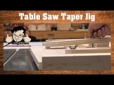 The BEST Table Saw Jig for Tapers
