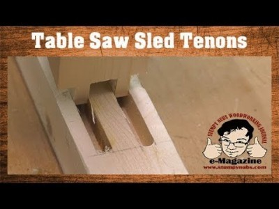 How to cut tenons on a TABLE SAW SLED