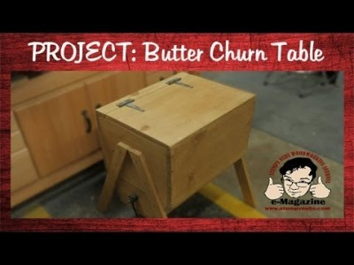 Build an antique butter churn end table from cheap pine boards!