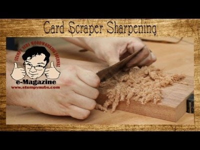 5 steps for easy woodworking card/cabinet scraper sharpening