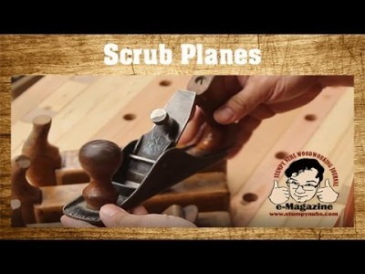 What's a scrub plane - LET'S MAKE ONE from a cheap Harbor Freight Windsor woodworking plane