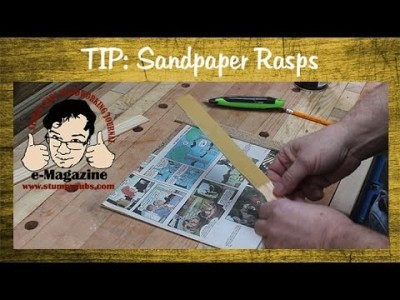 Make your own handy sandpaper rasps from paint stir sticks!