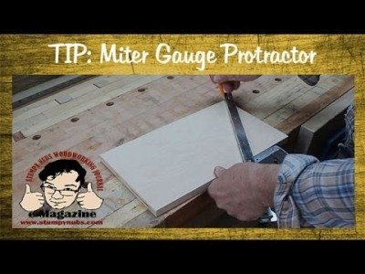 Use your miter gauge as a protractor!