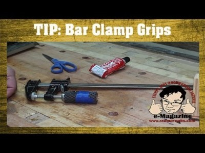 Woodworking Quick Tip #14- Bar clamp grips for old-timers!