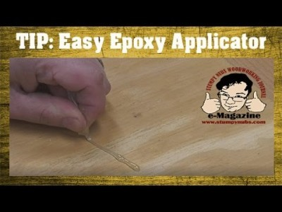 An easy (an mess-free) way to mix and apply epoxy