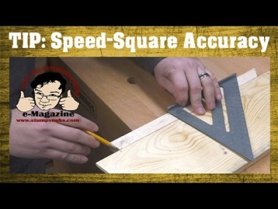Modify a speed-square for quick & accurate crosscuts