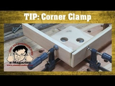 Homemade corner clamp for glue-ups