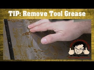 BETTER WAY to remove Cosmoline-type greasy coating from new tools_machines!