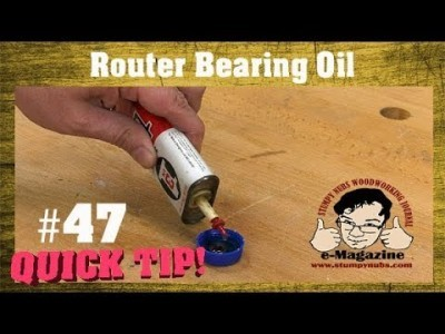 How do you oil router bit bearings