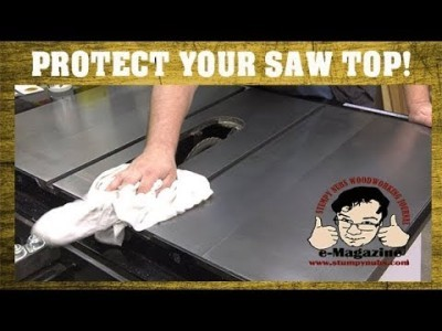 How to SAFELY clean your table saw top WITHOUT damaging it