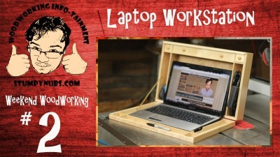 Laptop Computer Workstation: A wood case for your with all sorts of storage!