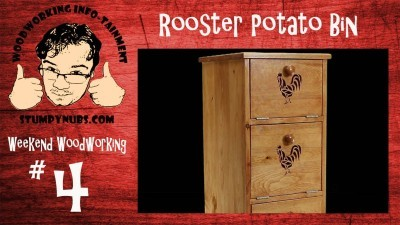 Mustache Mike builds a rooster themed potato/onion bin