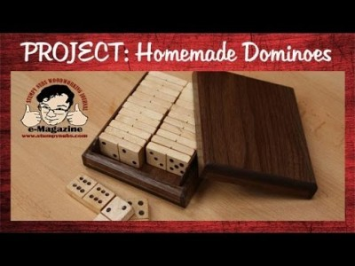 Make your own homemade wooden dominoes set with box