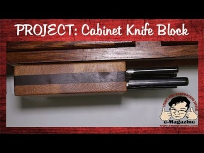 Make a rotating knife block that mounts beneath your cabinets!