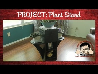 Building a plant stand for Mrs. Mustache- DIY Woodworking Project