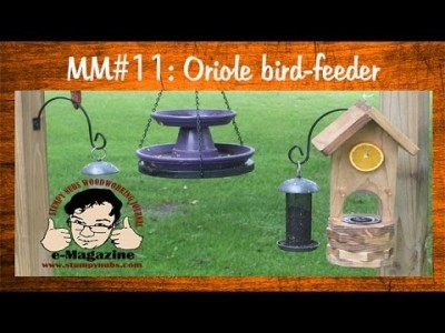 Scroll Saw Project- Build an oriole bird feeder