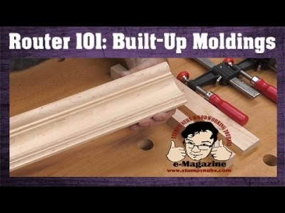 How to make fancy built-up crown moldings with common router bits