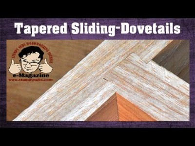 ROUTER SKILL- Make a tapered-sliding-dovetail THE EASY WAY