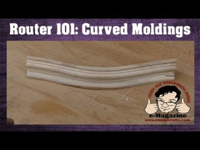 How to make CURVED mouldings and trim with a router table