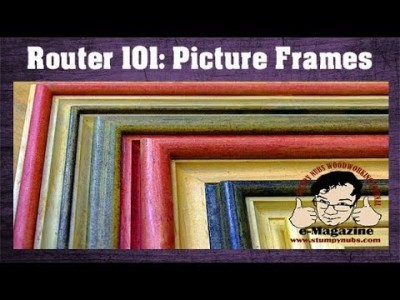 10 AMAZING picture frames you can make with REGULAR ROUTER BITS