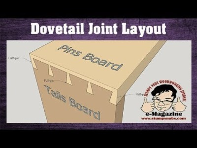 How to lay out dovetails FAST and EASY