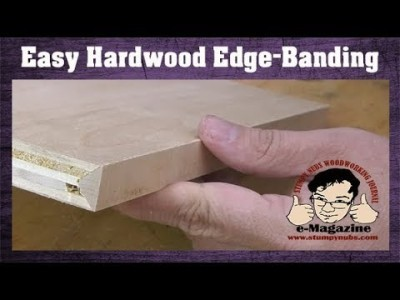 Make plywood look like hardwood- edge banding without special tools