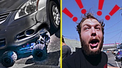 RC Crashed into A Car! (Traxxas X-Maxx)