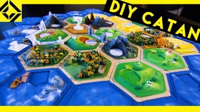 I Finished My 3D-Printed Settlers of Catan Set!